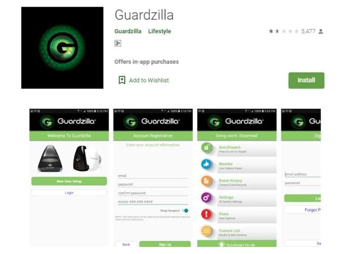 Guardzilla App for Windows